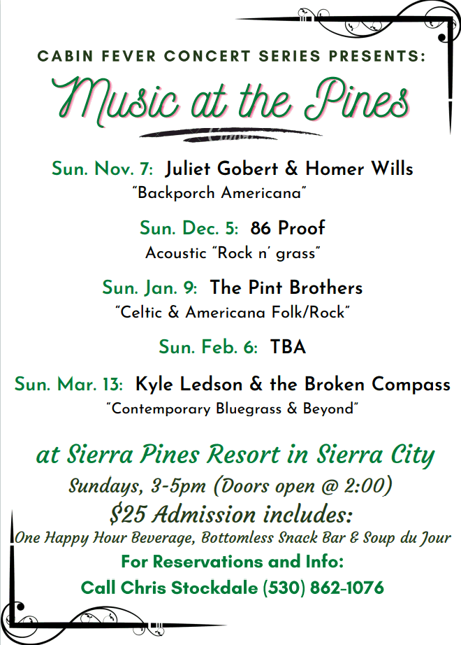 Music at the Pines Fall/Winter 2021-22